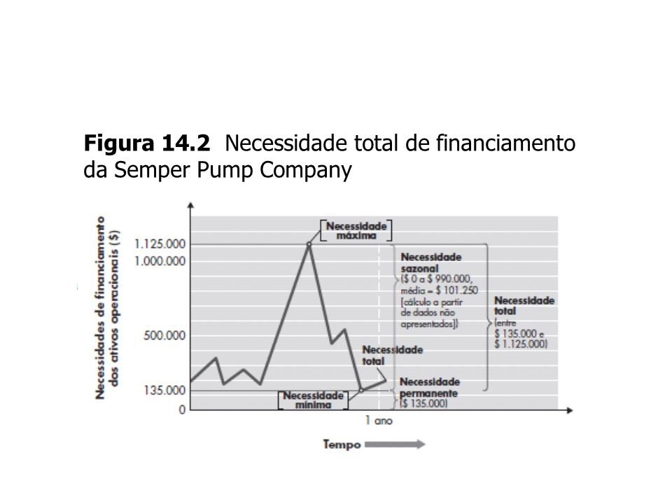Figura 14.2 Necessidade total de financiamento