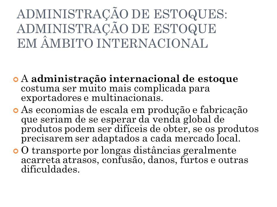 ADMINISTRAÇÃO DE ESTOQUES: ADMINISTRAÇÃO DE ESTOQUE EM ÂMBITO INTERNACIONAL