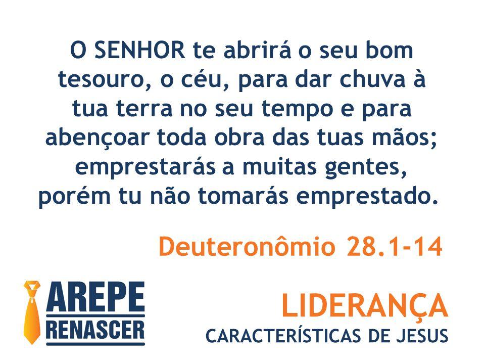 LIDERANÇA Deuteronômio 28.1-14 O SENHOR te abrirá o seu bom