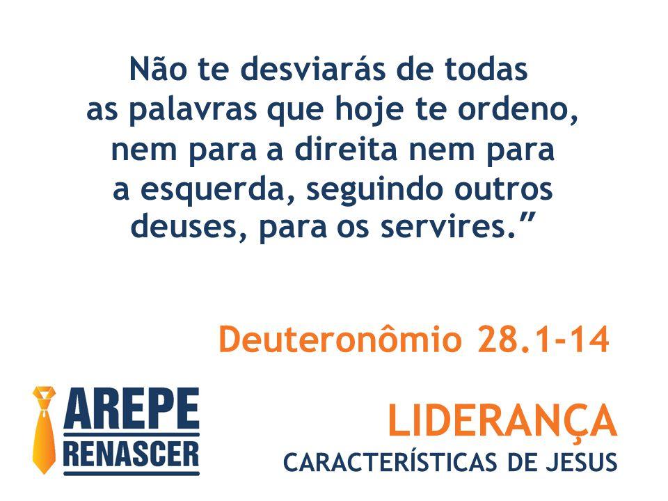 LIDERANÇA Deuteronômio 28.1-14 Não te desviarás de todas