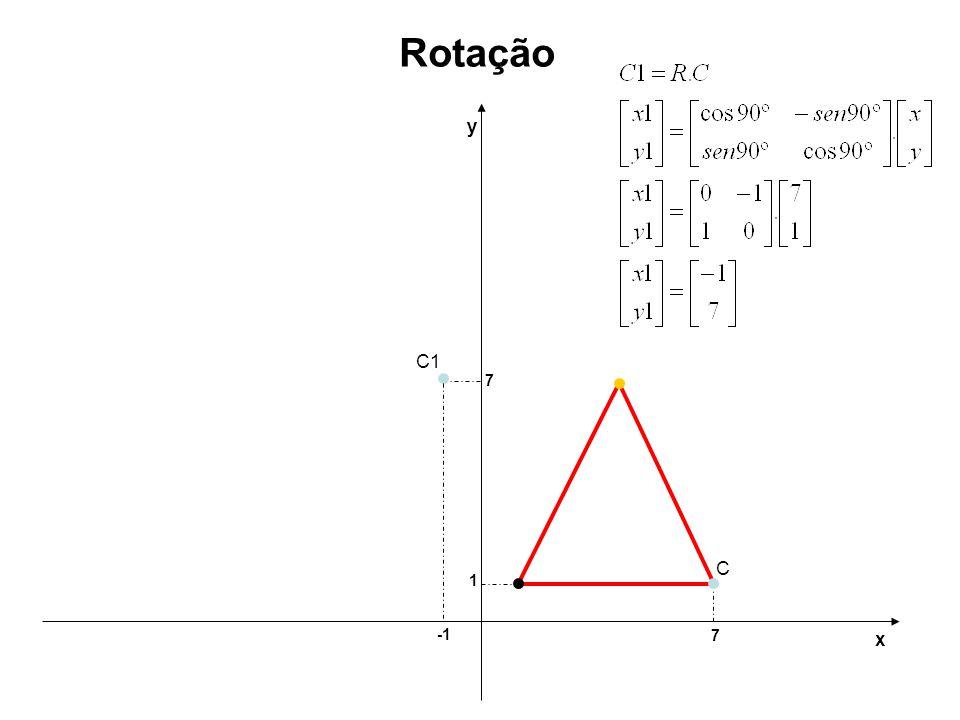 Rotação y C1 7 C 1 -1 7 x