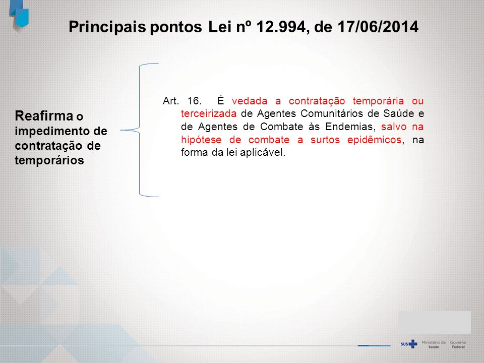 Principais pontos Lei nº 12.994, de 17/06/2014