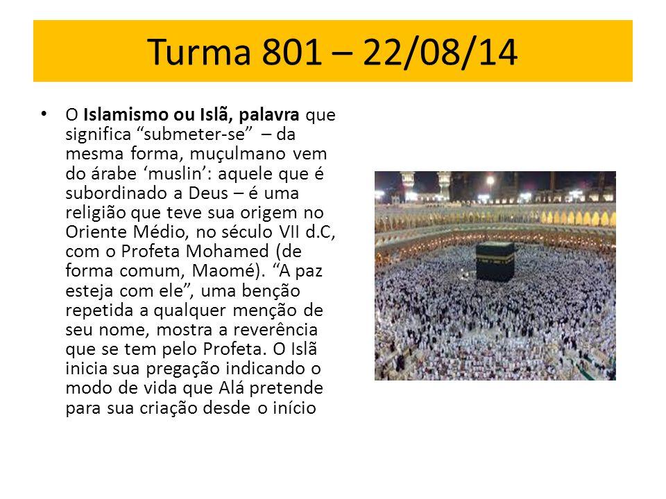 Turma 801 – 22/08/14