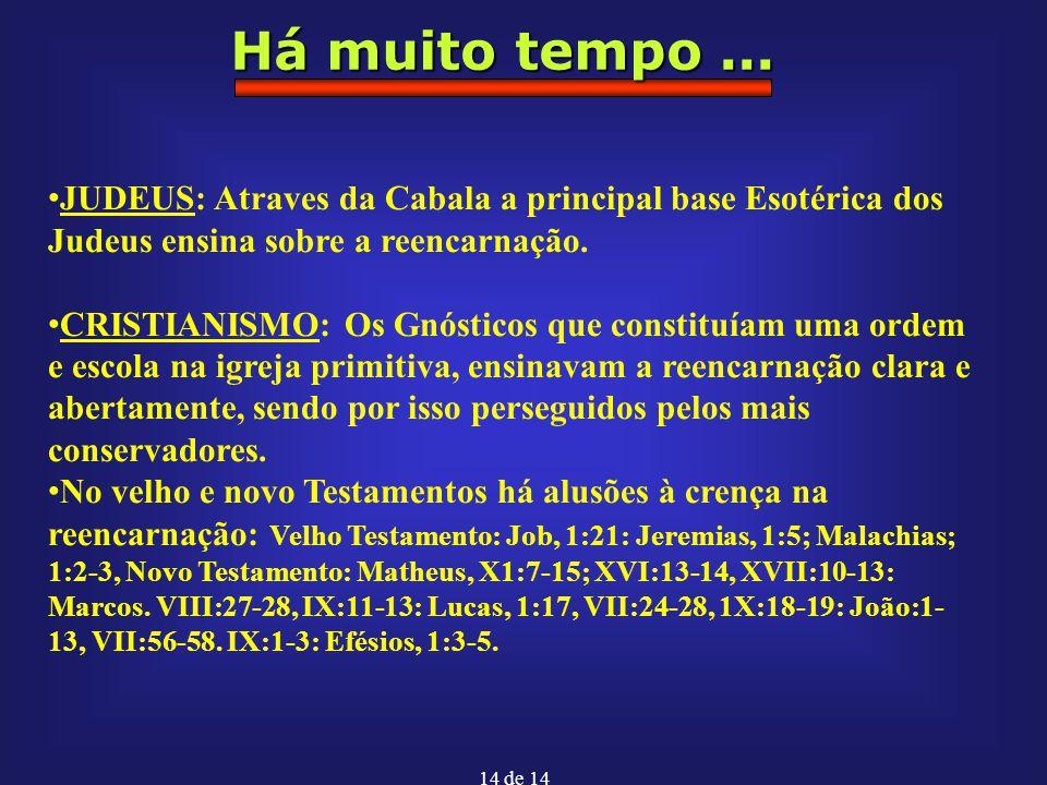Há muito tempo ... JUDEUS: Atraves da Cabala a principal base Esotérica dos Judeus ensina sobre a reencarnação.