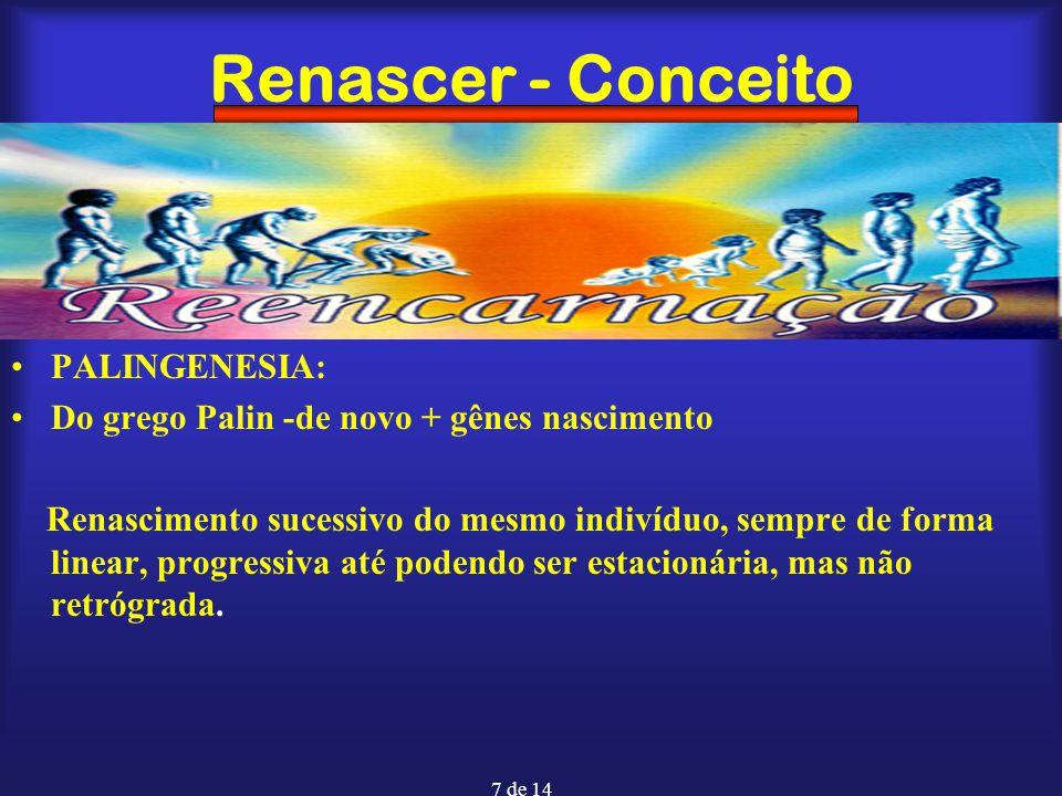 Renascer - Conceito PALINGENESIA:
