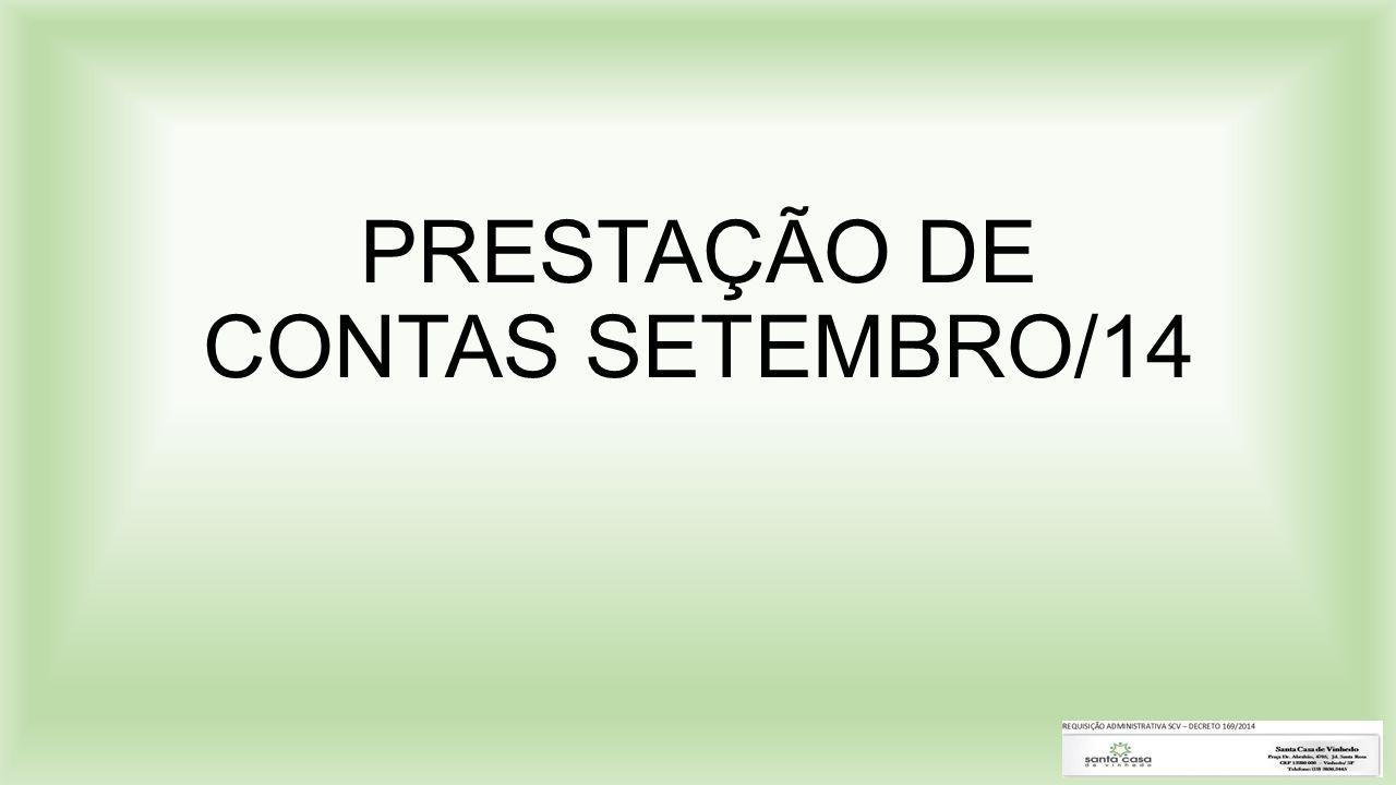 PRESTAÇÃO DE CONTAS SETEMBRO/14