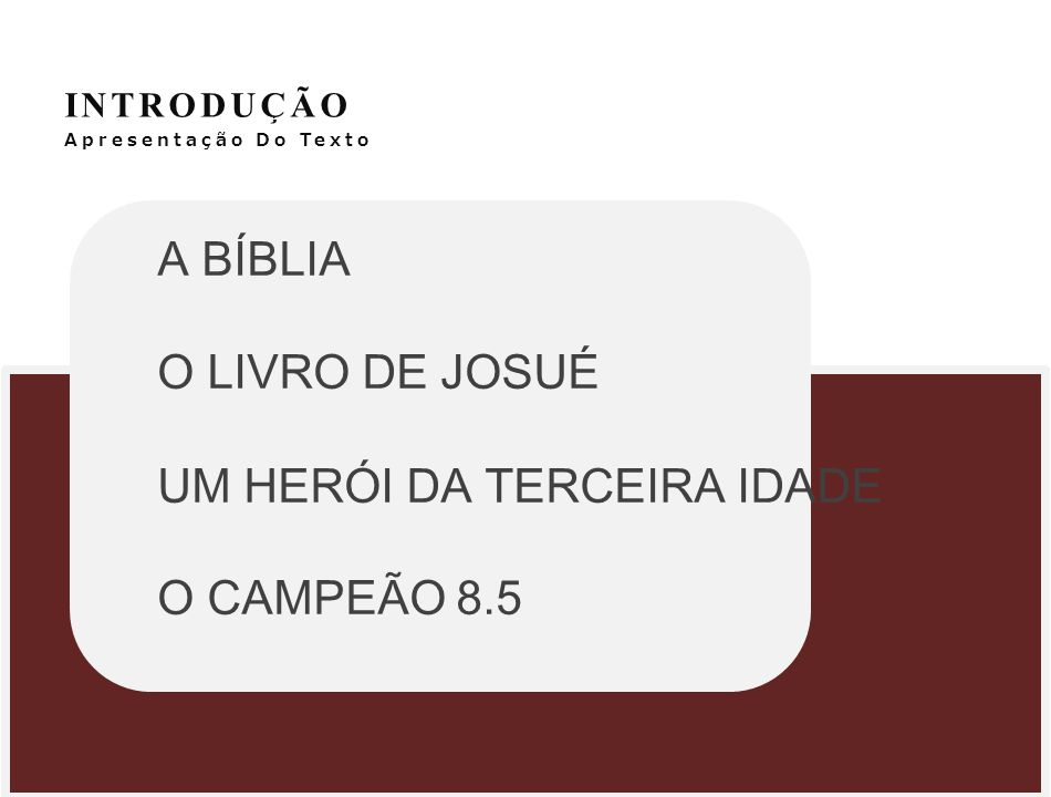 UM HERÓI DA TERCEIRA IDADE O CAMPEÃO 8.5