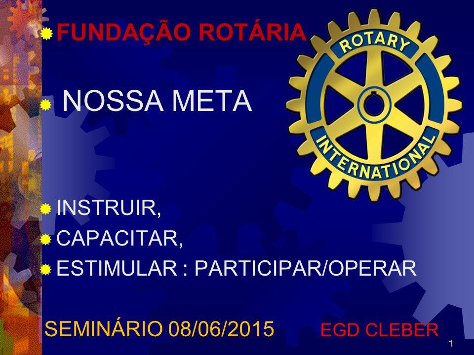FUNDAÇÃO ROTÁRIA NOSSA META INSTRUIR, CAPACITAR,