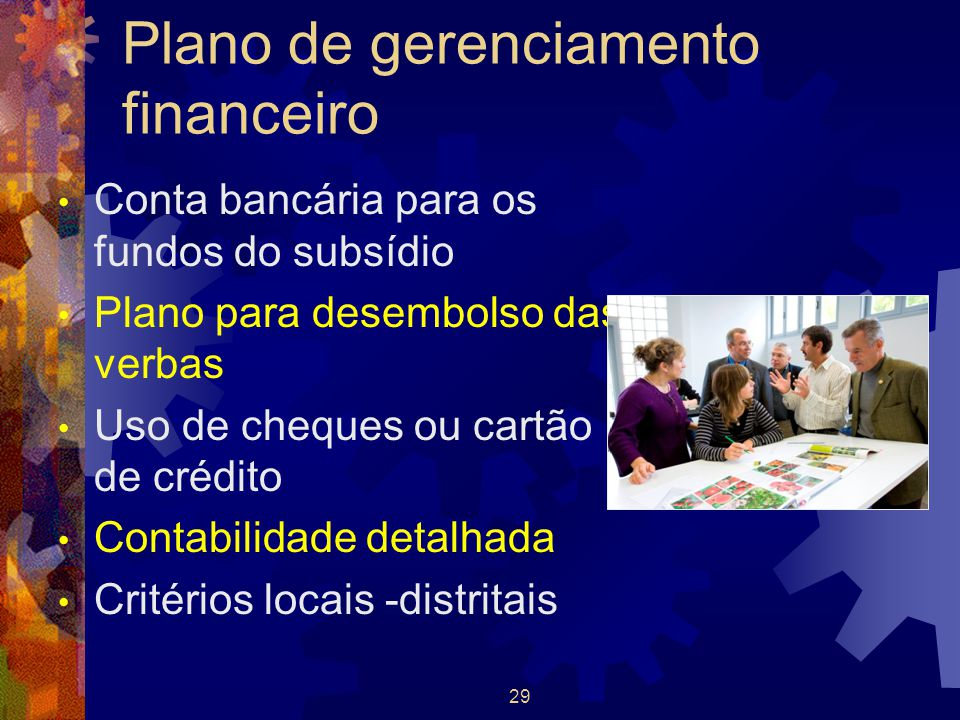 Plano de gerenciamento financeiro