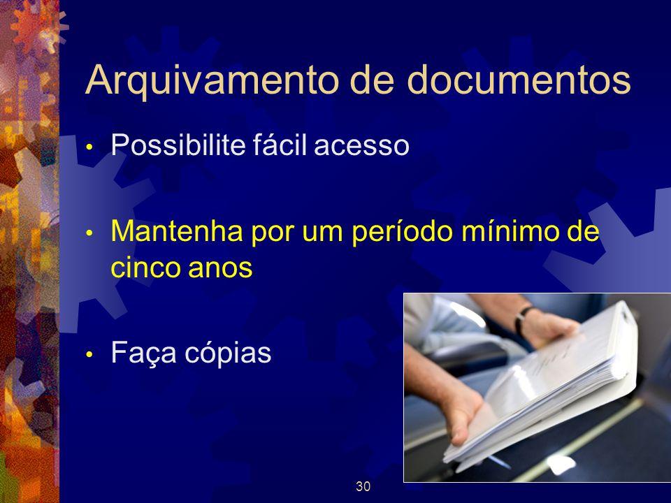 Arquivamento de documentos