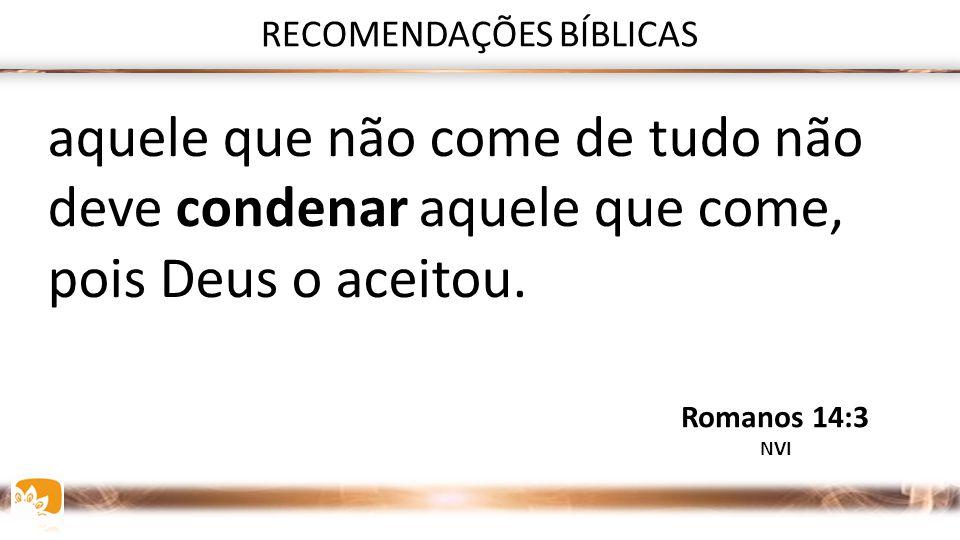 RECOMENDAÇÕES BÍBLICAS