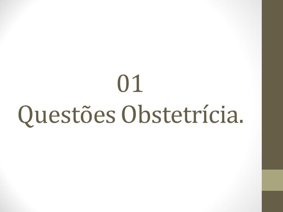 01 Questões Obstetrícia.