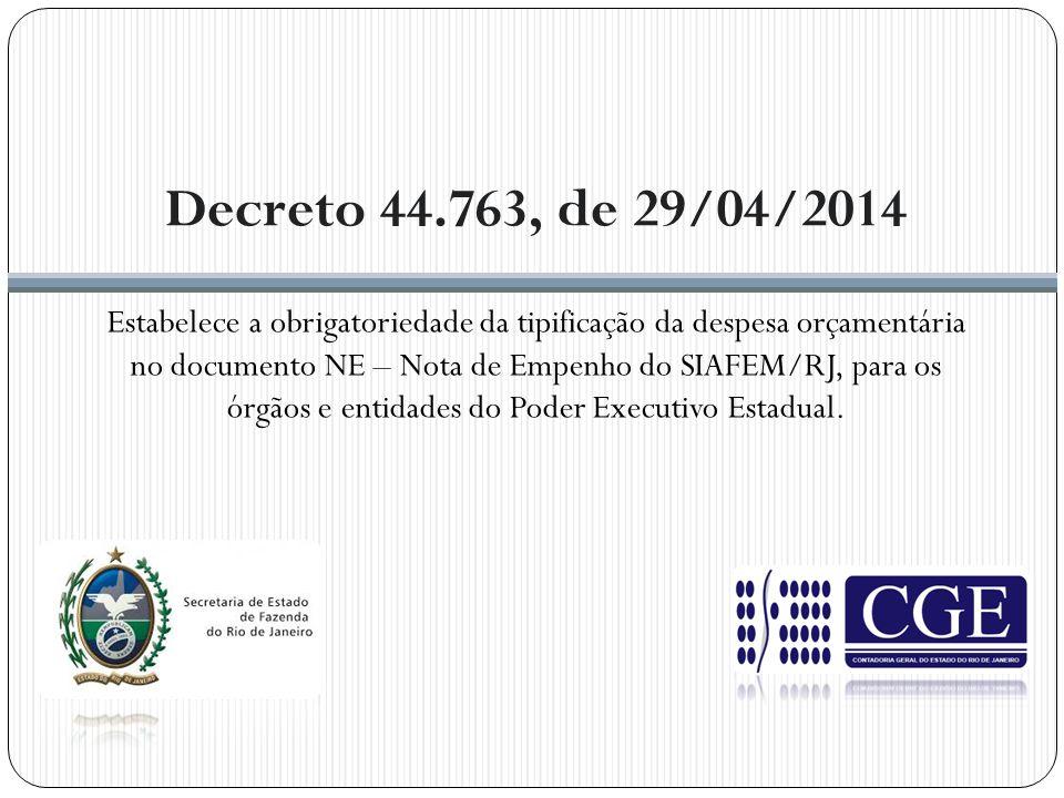 Decreto 44.763, de 29/04/2014