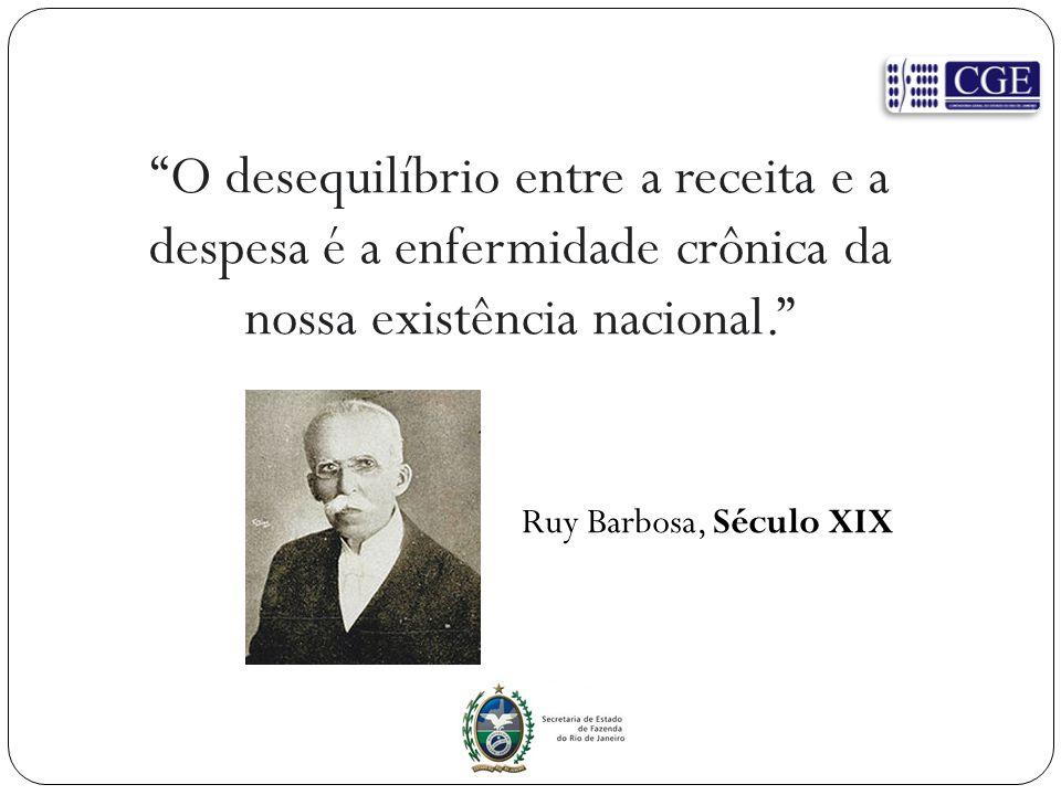 O desequilíbrio entre a receita e a despesa é a enfermidade crônica da nossa existência nacional.