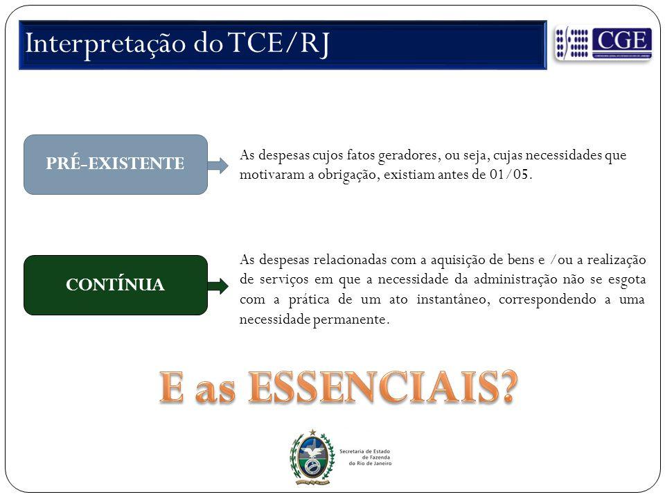 Interpretação do TCE/RJ