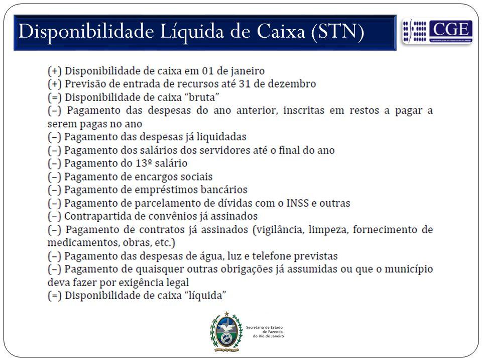 Disponibilidade Líquida de Caixa (STN)