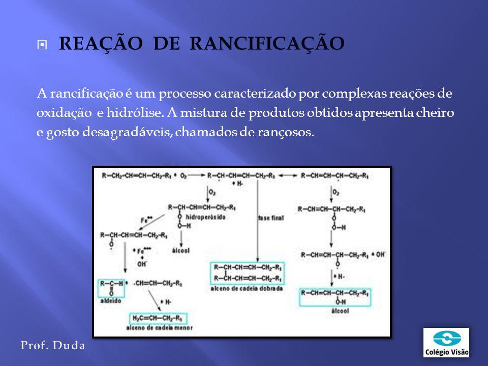 REAÇÃO DE RANCIFICAÇÃO