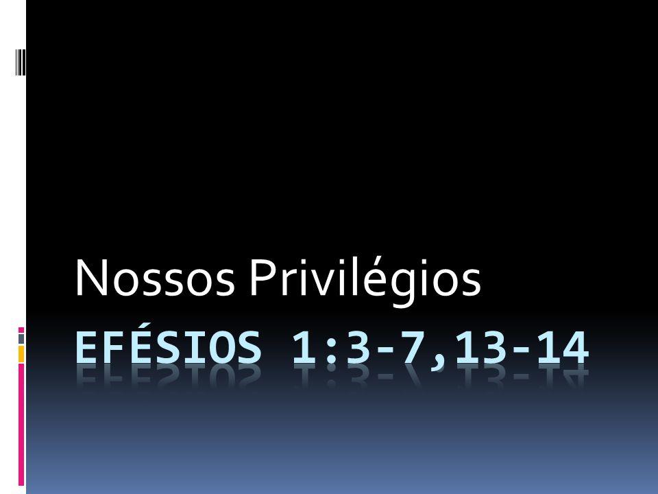 Nossos Privilégios efésios 1:3-7,13-14