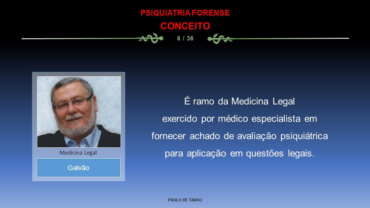 É ramo da Medicina Legal