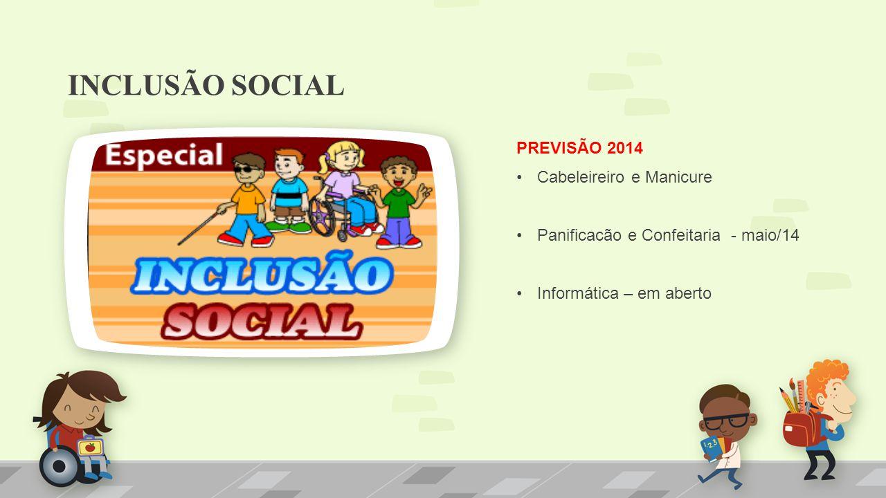 INCLUSÃO SOCIAL PREVISÃO 2014 Cabeleireiro e Manicure