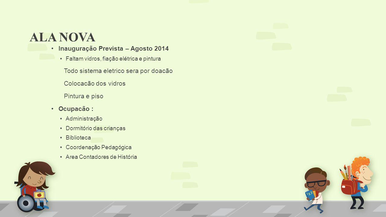 ALA NOVA Inauguração Prevista – Agosto 2014