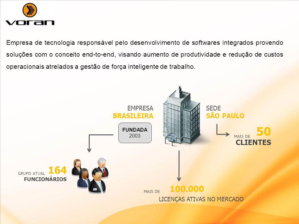 Empresa de tecnologia responsável pelo desenvolvimento de softwares integrados provendo soluções com o conceito end-to-end, visando aumento de produtividade e redução de custos operacionais atrelados a gestão de força inteligente de trabalho.