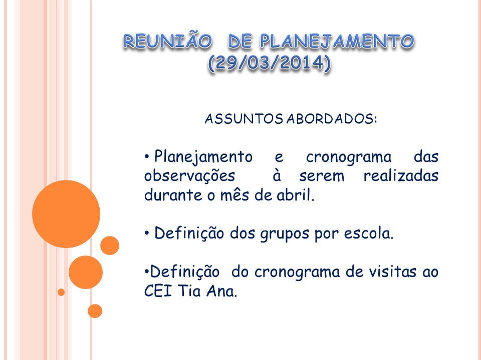 REUNIÃO DE PLANEJAMENTO (29/03/2014)