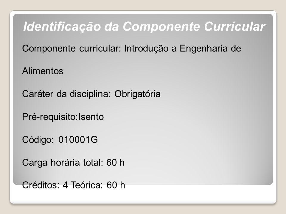 Identificação da Componente Curricular