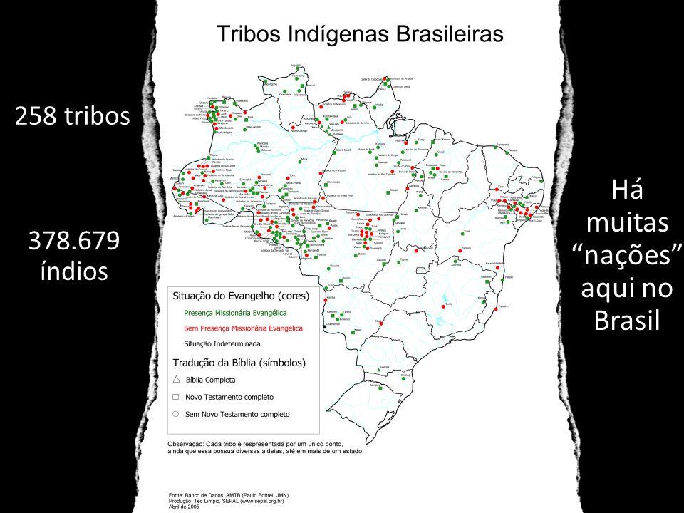 Há muitas nações aqui no Brasil