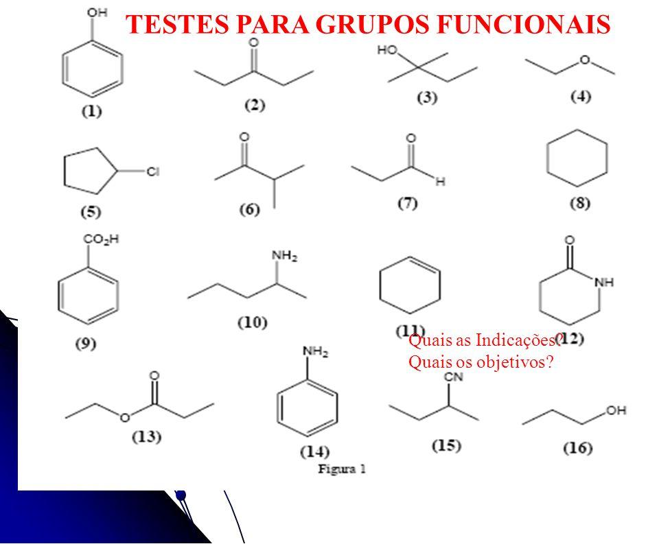TESTES PARA GRUPOS FUNCIONAIS