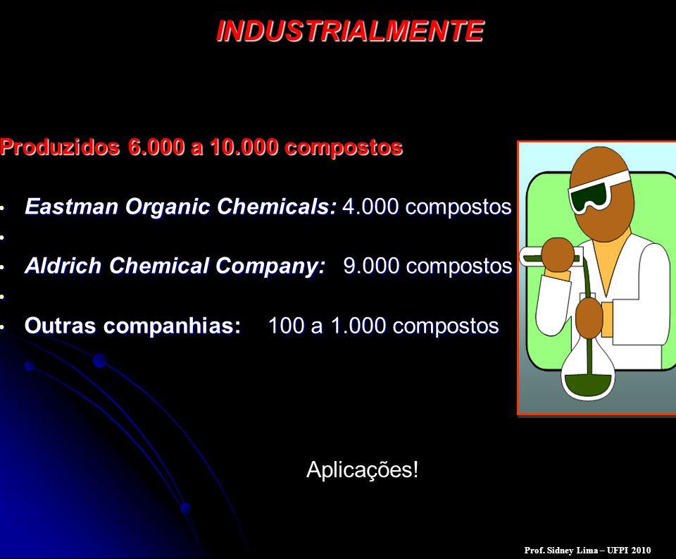INDUSTRIALMENTE Produzidos 6.000 a 10.000 compostos