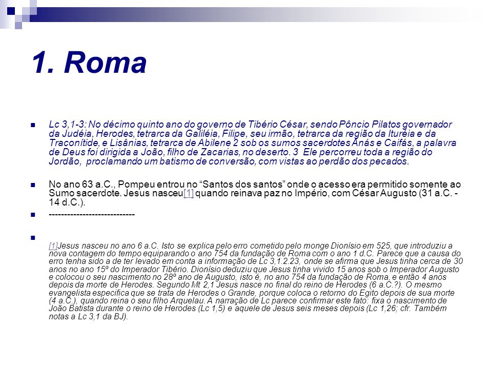 1. Roma