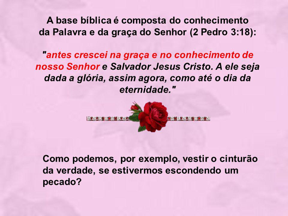 A base bíblica é composta do conhecimento da Palavra e da graça do Senhor (2 Pedro 3:18):