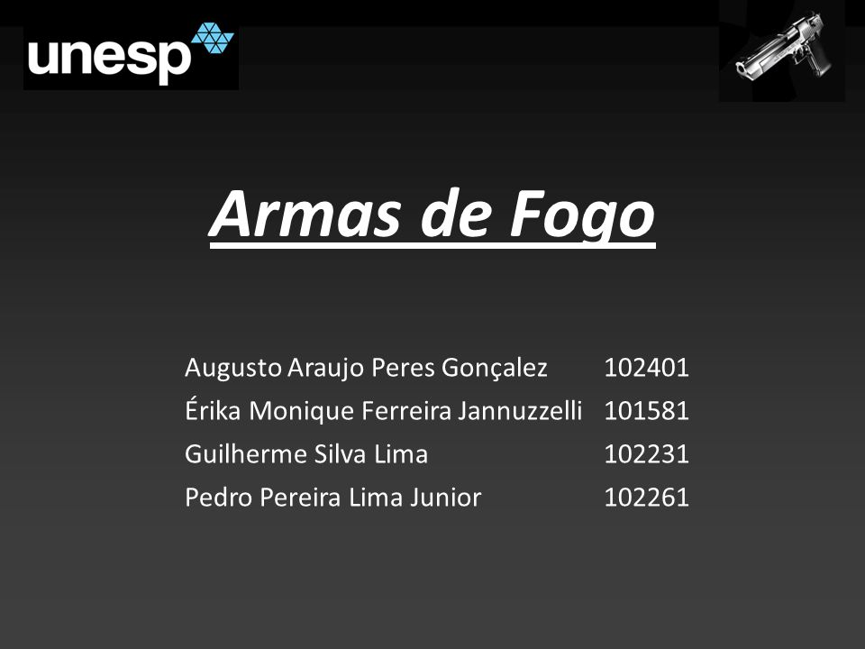 Armas de Fogo Augusto Araujo Peres Gonçalez 102401