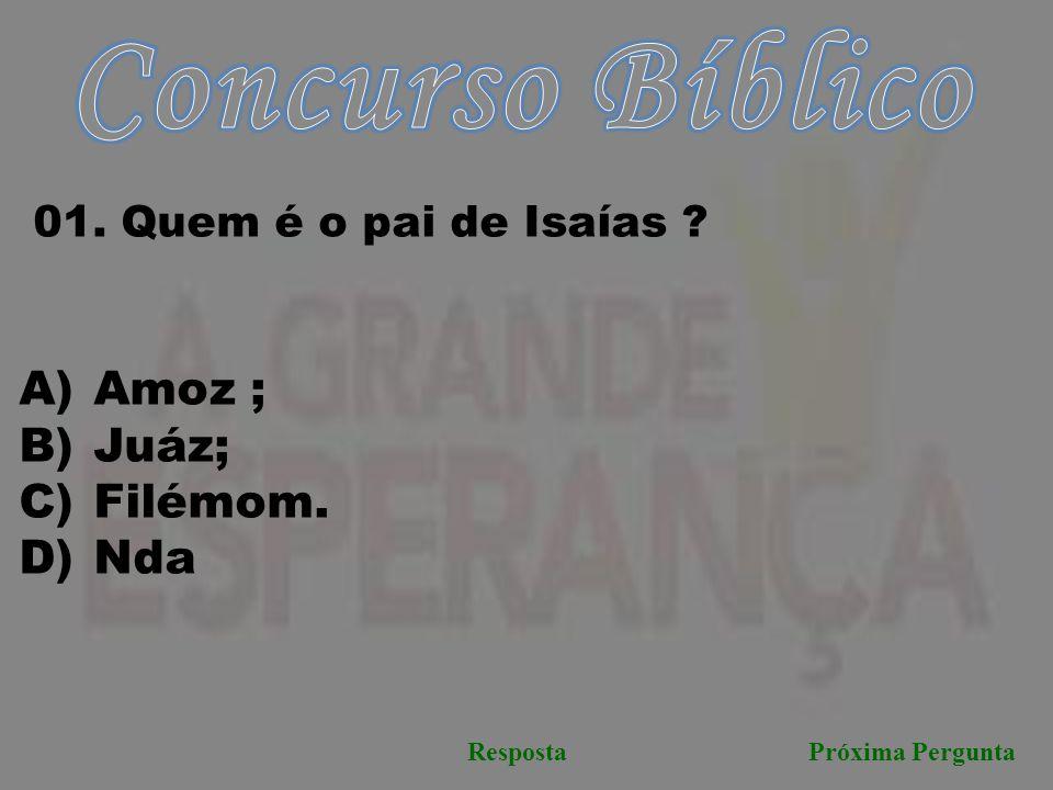 Concurso Bíblico Amoz ; Juáz; Filémom. Nda