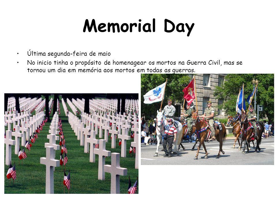 Memorial Day Última segunda-feira de maio