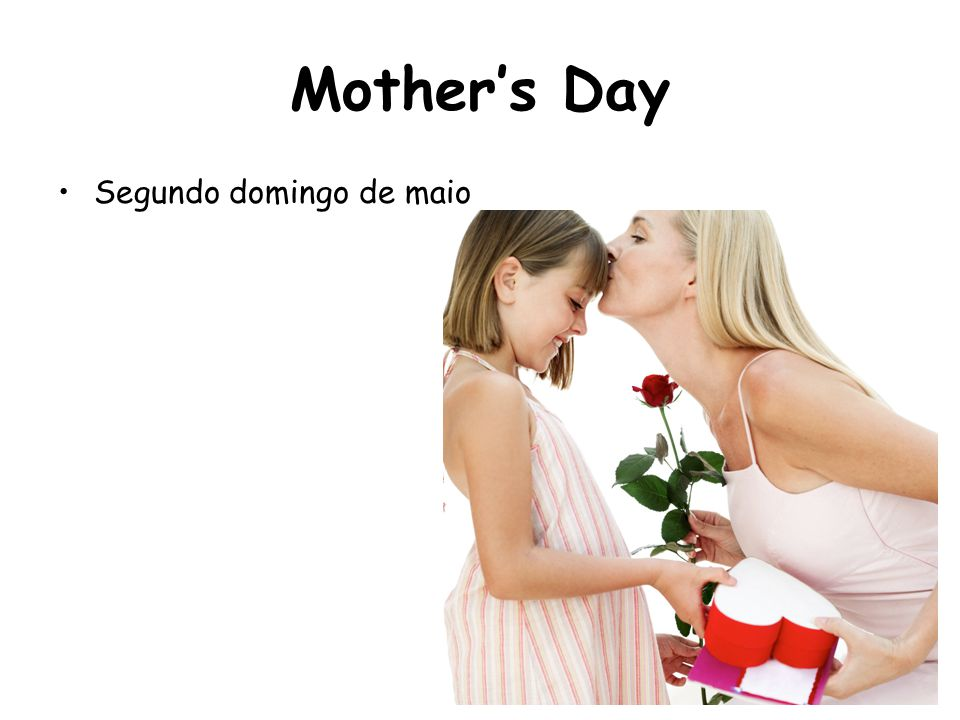 Mother's Day Segundo domingo de maio