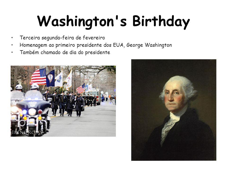 Washington s Birthday Terceira segunda-feira de fevereiro
