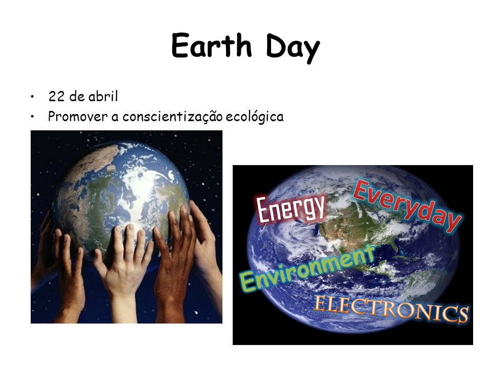 Earth Day 22 de abril Promover a conscientização ecológica