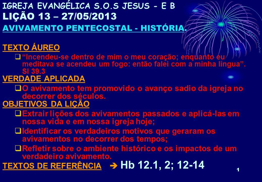 TEXTOS DE REFERÊNCIA  Hb 12.1, 2; 12-14