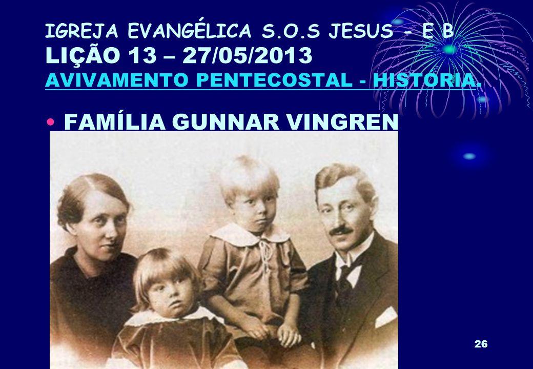 FAMÍLIA GUNNAR VINGREN