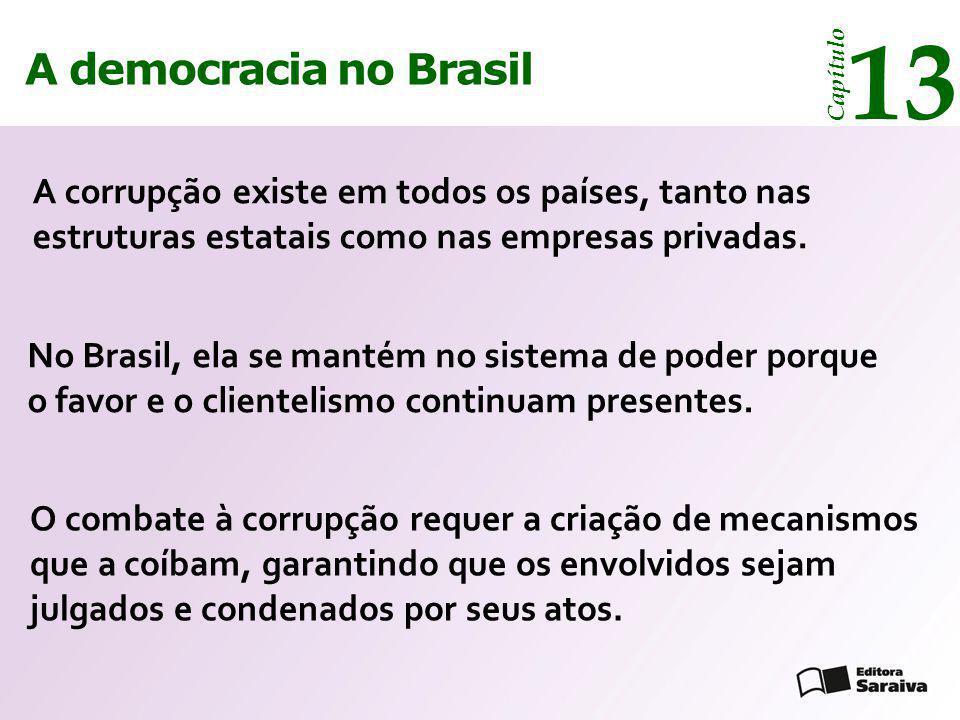 13 13 A democracia no Brasil A democracia no Brasil