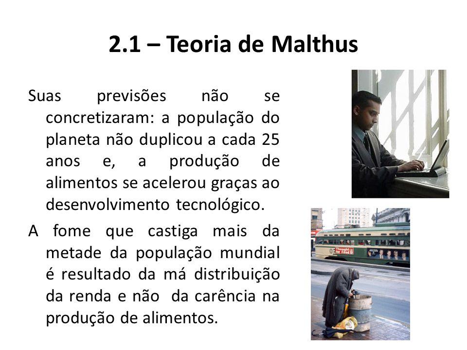 2.1 – Teoria de Malthus