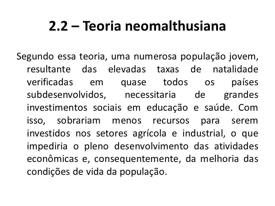 2.2 – Teoria neomalthusiana