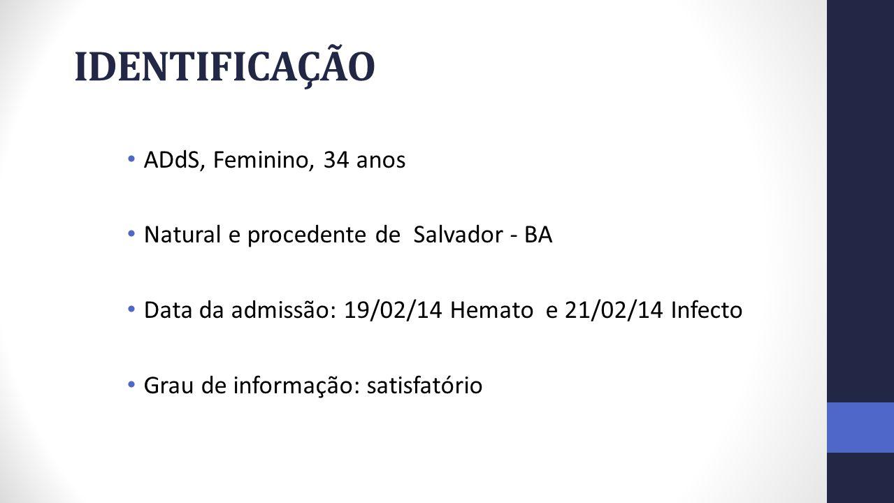 IDENTIFICAÇÃO ADdS, Feminino, 34 anos