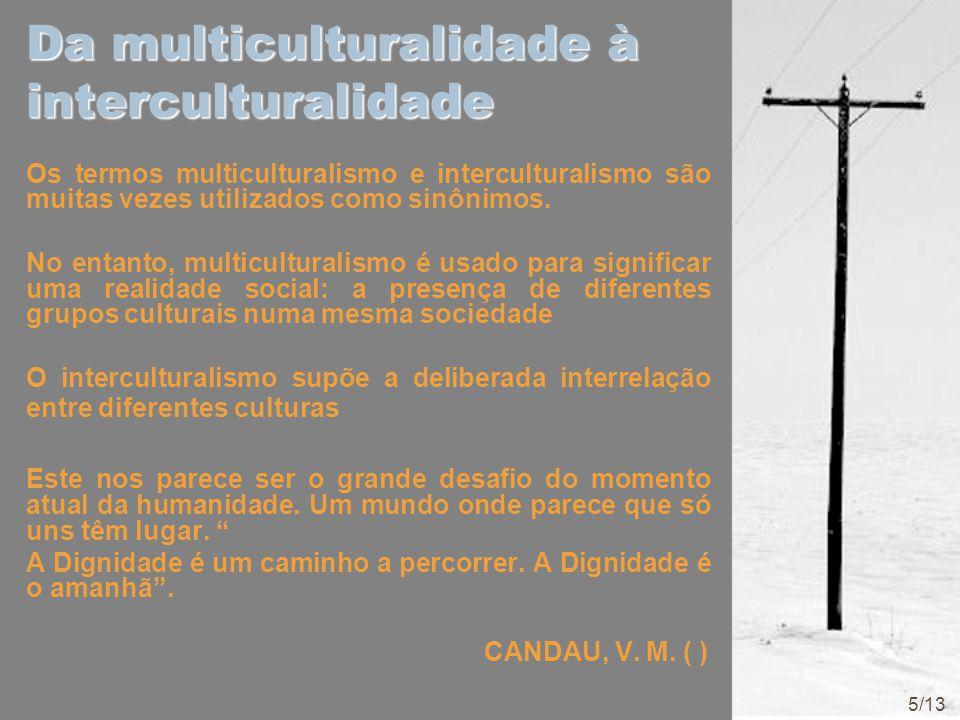 Da multiculturalidade à interculturalidade