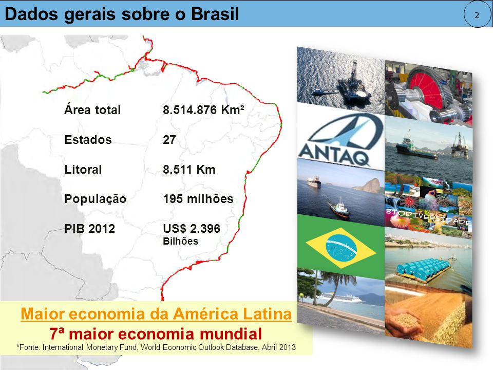Maior economia da América Latina 7ª maior economia mundial