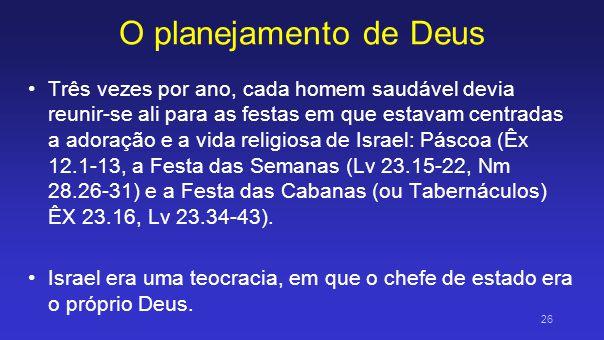 O planejamento de Deus
