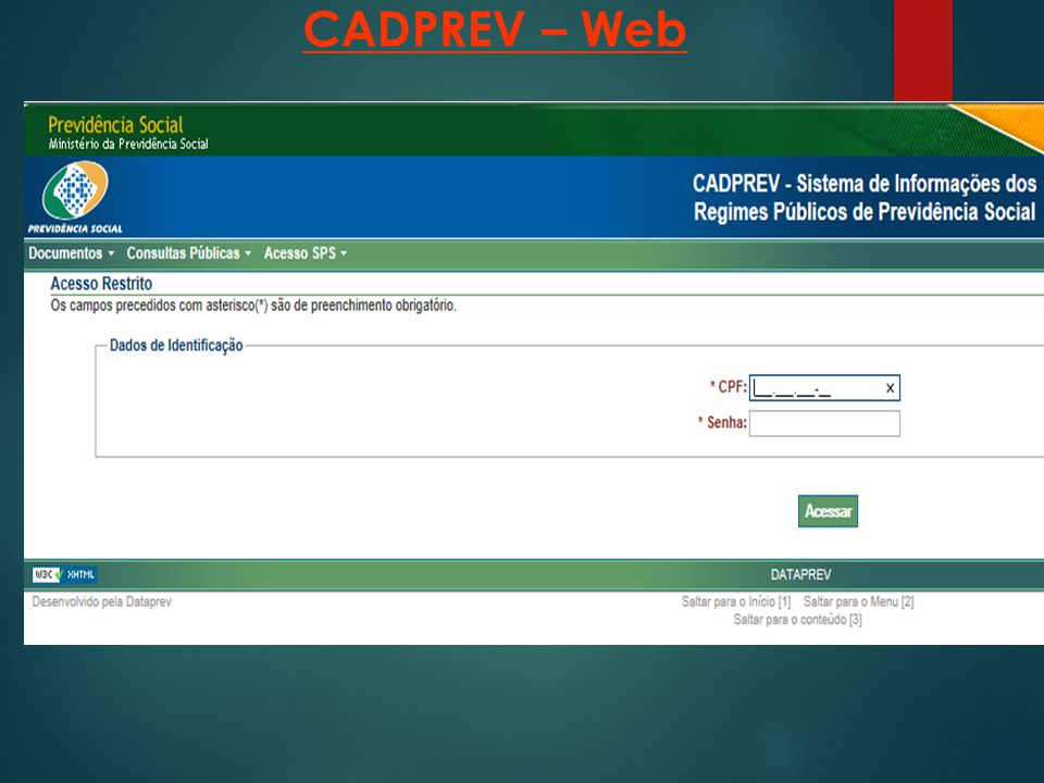 CADPREV – Web 20