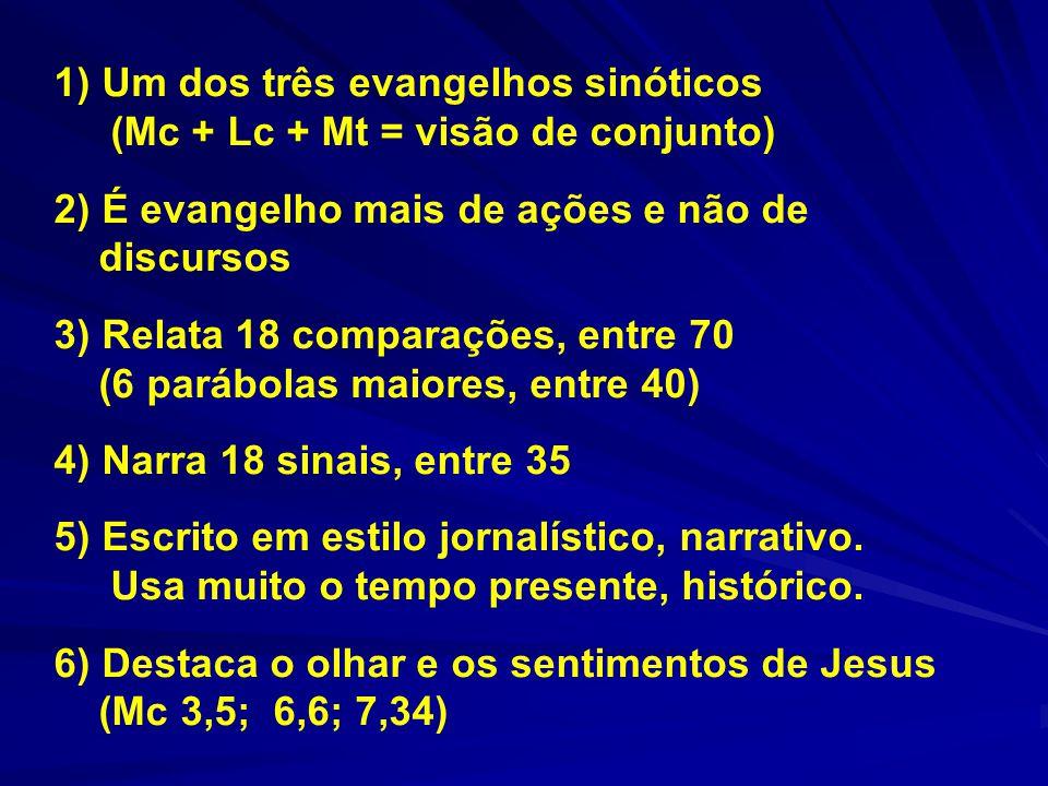 1) Um dos três evangelhos sinóticos